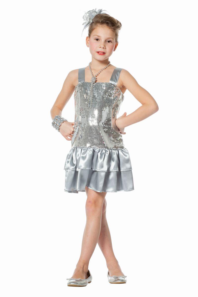 FFF - Kinder Kostüm Pailletten Kleid silber Karneval Fasching   eBay