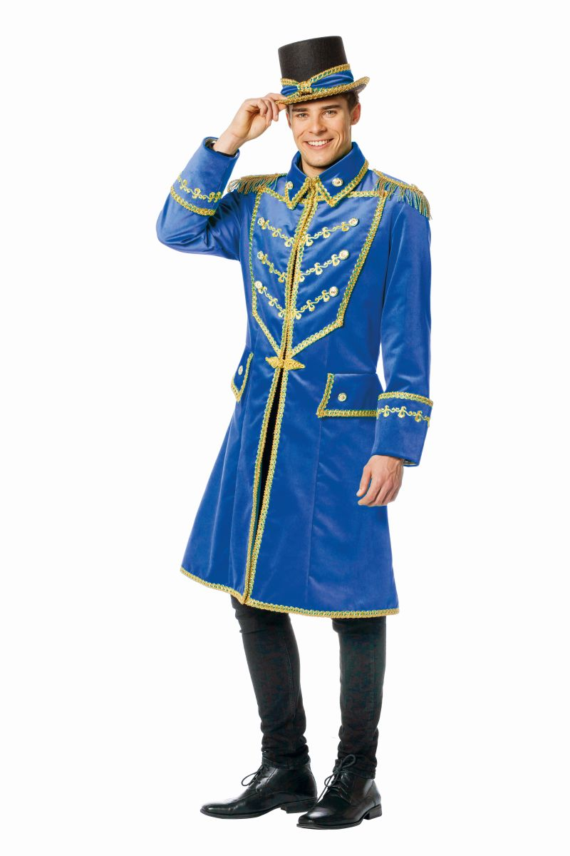 fff herren kost m uniform jacke zirkus blau karneval fasching ebay. Black Bedroom Furniture Sets. Home Design Ideas