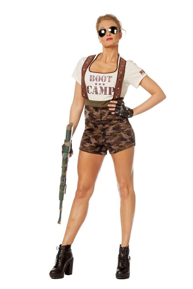 wil damen kost m boot camp soldatin karneval fasching ebay. Black Bedroom Furniture Sets. Home Design Ideas